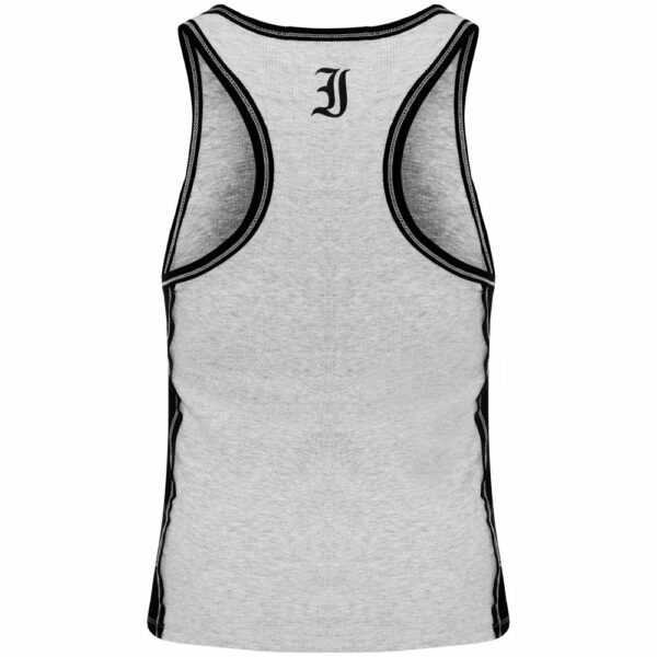 Two Color Rib T-back Grey Imperioo Sports